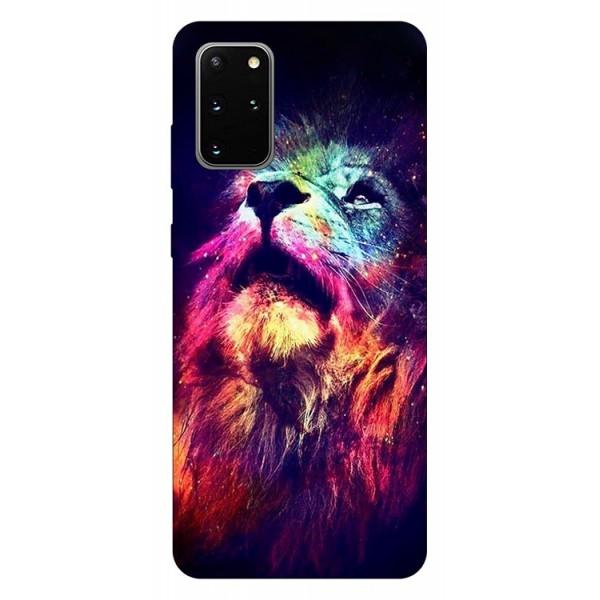 Husa Silicon Soft Upzz Print Compatibila Cu Samsung Galaxy S20 Plus Model Neon Lion imagine itelmobile.ro 2021