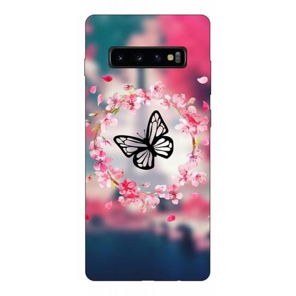 Husa Silicon Soft Upzz Print Compatibila Cu Samsung Galaxy S10+ Plus Model Butterfly imagine itelmobile.ro 2021