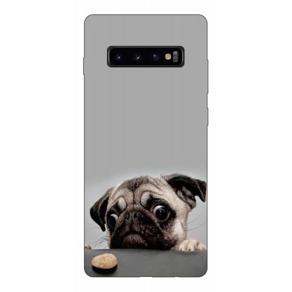 Husa Silicon Soft Upzz Print Compatibila Cu Samsung Galaxy S10+ Plus Model Dog imagine itelmobile.ro 2021