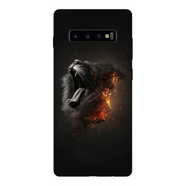 Husa Silicon Soft Upzz Print Compatibila Cu Samsung Galaxy S10+ Plus Model Lion imagine itelmobile.ro 2021