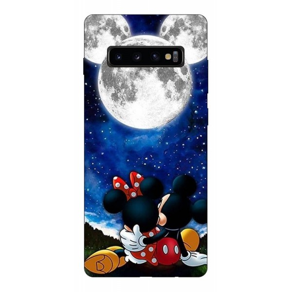 Husa Silicon Soft Upzz Print Compatibila Cu Samsung Galaxy S10+ Plus Model Moon imagine itelmobile.ro 2021