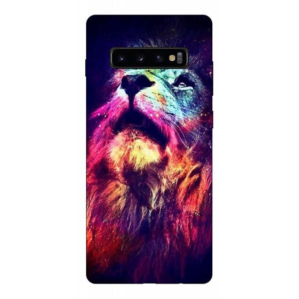 Husa Silicon Soft Upzz Print Compatibila Cu Samsung Galaxy S10+ Plus Model Neon Lion imagine itelmobile.ro 2021