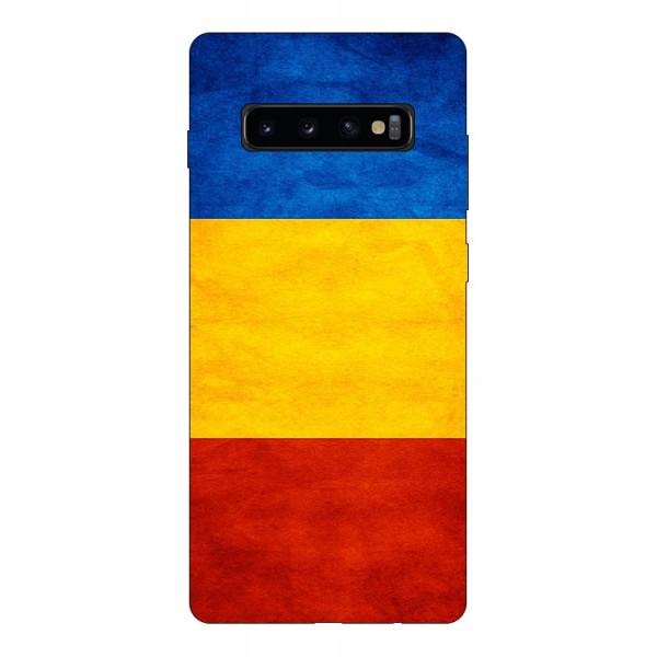 Husa Silicon Soft Upzz Print Compatibila Cu Samsung Galaxy S10+ Plus Model Tricolor imagine itelmobile.ro 2021