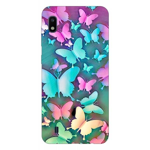 Husa Silicon Soft Upzz Print Compatibila Cu Samsung Galaxy A10 Model Colorfull Butterflies imagine itelmobile.ro 2021