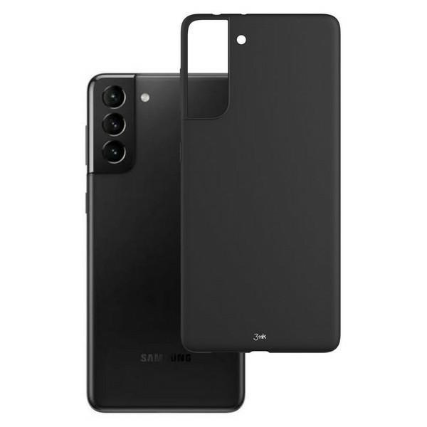 Husa Premium Soft 3mk Compatibila Cu Samsung Galaxy S21, Silicon Matt Negru imagine itelmobile.ro 2021
