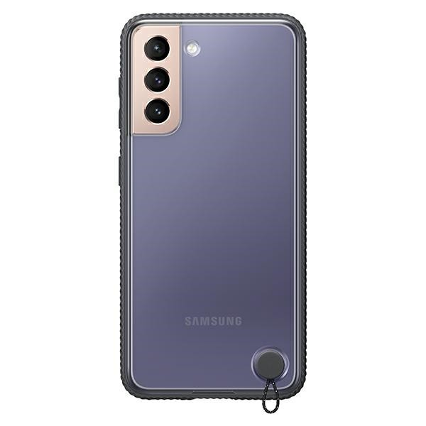 Husa Premium Originala Samsung Galaxy S21, Silicon, Transparenta Cu Rama Neagra - Ef-gg991cb imagine itelmobile.ro 2021