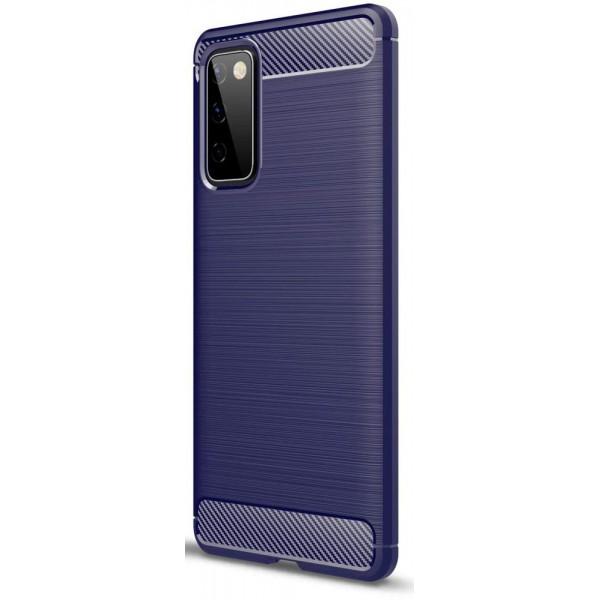 Husa Spate Upzz Carbon Pro Pentru Samsung Galaxy S20 Fe, Silicon, Anti-shock, Albastru imagine itelmobile.ro 2021