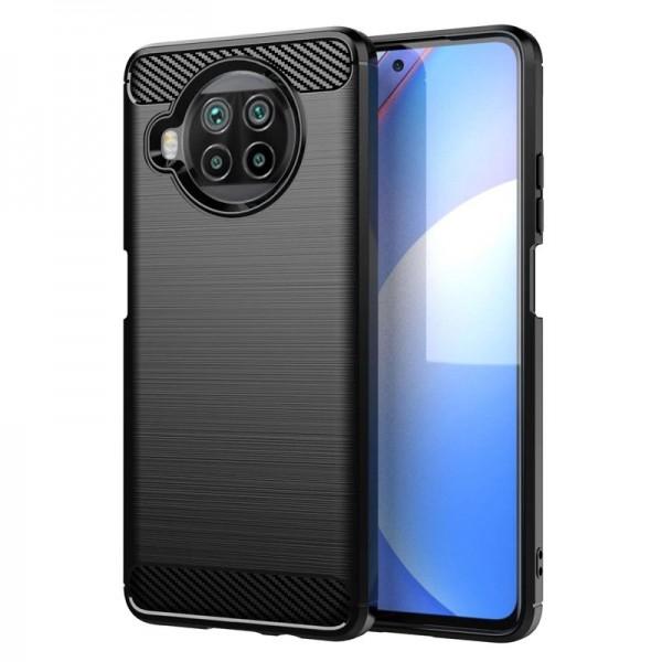 Husa Spate Upzz Carbon Pro Pentru Xiaomi Mi 10t Lite, Silicon, Anti-shock, Negru imagine itelmobile.ro 2021