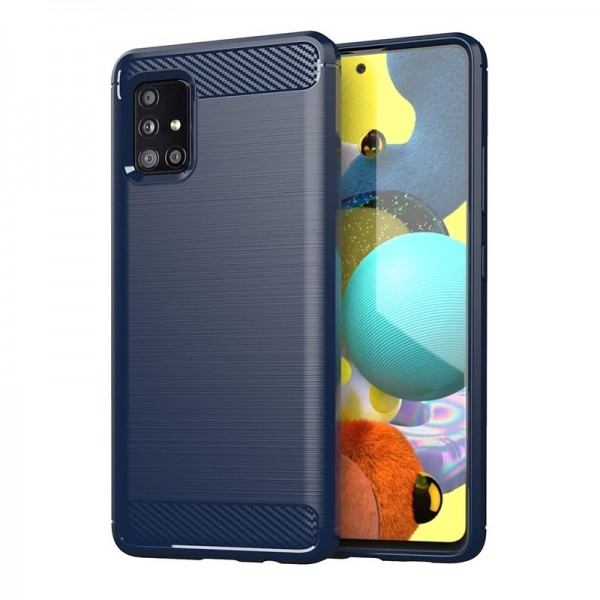 Husa Spate Upzz Carbon Pro Compatibila Cu Samsung Galaxy M51 Albastru imagine itelmobile.ro 2021