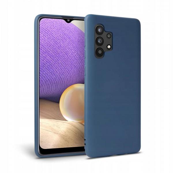 Husa Premium Upzz Liquid Silicon Pentru Samsung Galaxy A32 5g, Cu Invelis Alcantara La Interior , Albastru imagine itelmobile.ro 2021