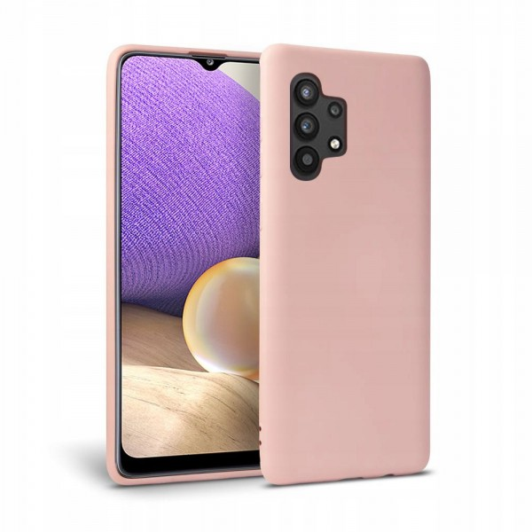 Husa Premium Upzz Liquid Silicon Pentru Samsung Galaxy A32 5g, Cu Invelis Alcantara La Interior , Roz imagine itelmobile.ro 2021