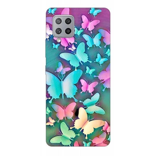 Husa Silicon Soft Upzz Print Compatibila Cu Samsung Galaxy A12 Model Colorfull Butterfly imagine itelmobile.ro 2021