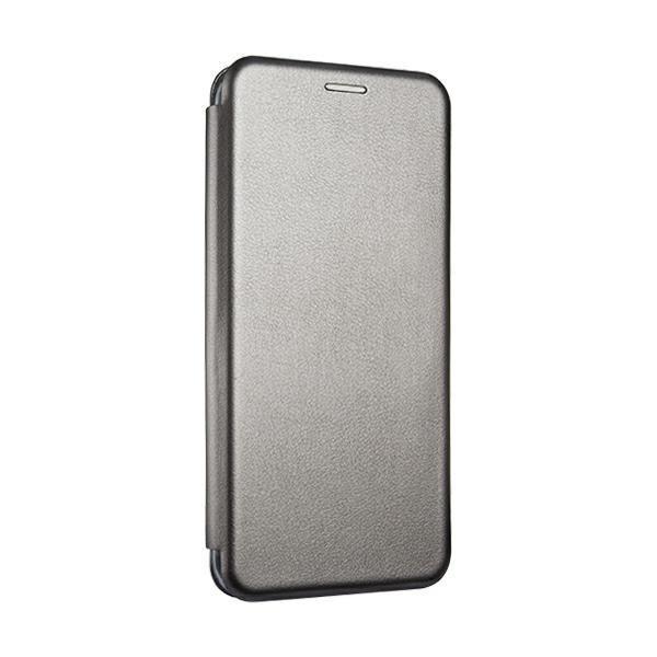 Husa Flip Carte Cu Magnet Lux Upzz Compatibila Cu Samsung Galaxy A12, Gri imagine itelmobile.ro 2021