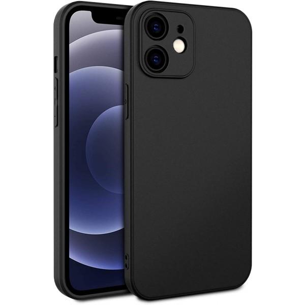 Husa Premium Upzz Soft New Compatibila Cu iPhone 12, Protectie La Camera, Silicon, Negru imagine itelmobile.ro 2021