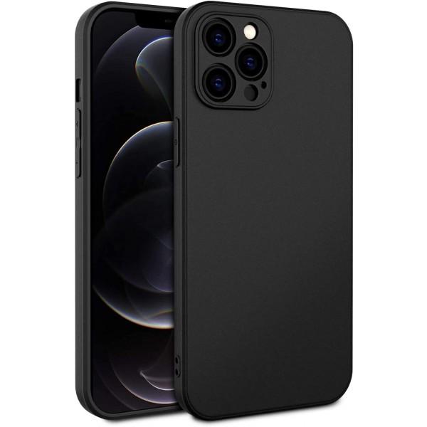 Husa Premium Upzz Soft New Compatibila Cu iPhone 12 Pro Max, Protectie La Camera, Silicon, Negru imagine itelmobile.ro 2021