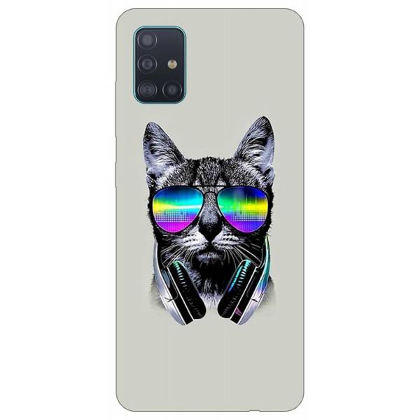 Husa Silicon Soft Upzz Print Compatibila Cu Samsung Galaxy A51 Model Cat imagine itelmobile.ro 2021