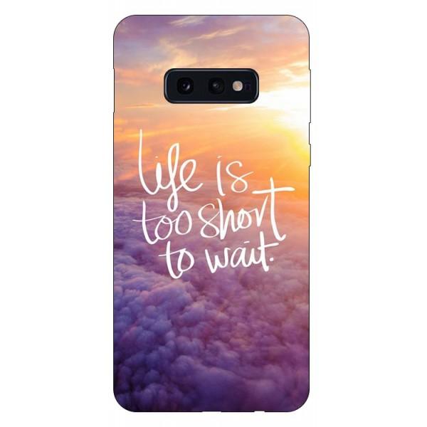 Husa Silicon Soft Upzz Print Compatibila Cu Samsung Galaxy S10e Model Life imagine itelmobile.ro 2021