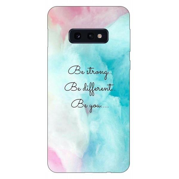 Husa Silicon Soft Upzz Print Compatibila Cu Samsung Galaxy S10e Model Be You imagine itelmobile.ro 2021
