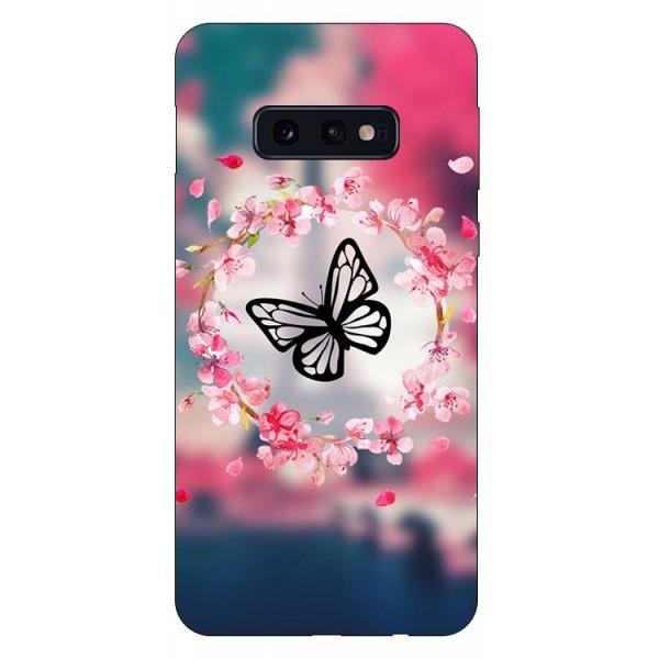 Husa Silicon Soft Upzz Print Compatibila Cu Samsung Galaxy S10e Model Butterfly imagine itelmobile.ro 2021