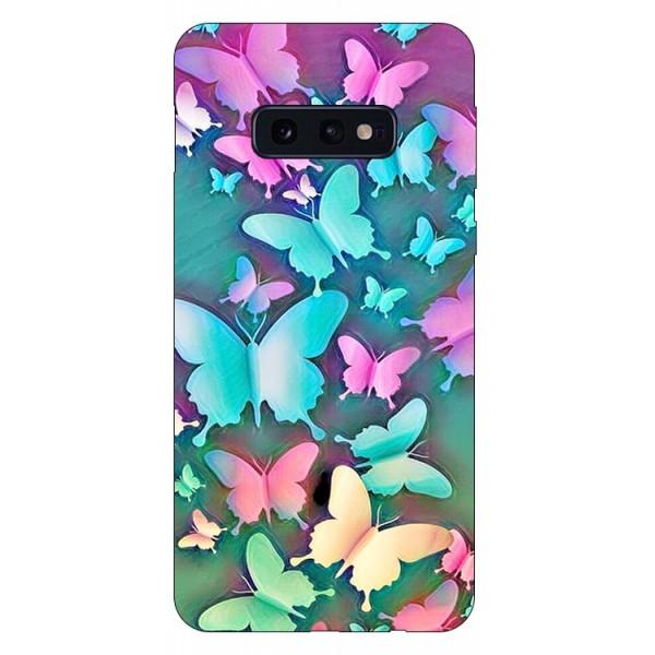 Husa Silicon Soft Upzz Print Compatibila Cu Samsung Galaxy S10e Model Colorfull Butterflies imagine itelmobile.ro 2021