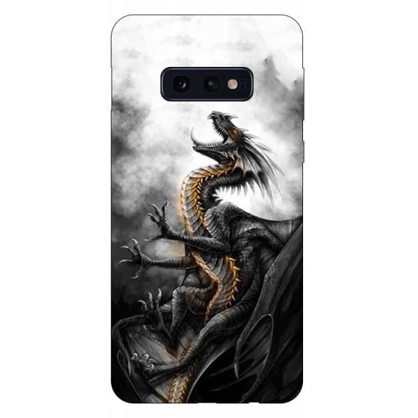 Husa Silicon Soft Upzz Print Compatibila Cu Samsung Galaxy S10e Model Dragon 1 imagine itelmobile.ro 2021