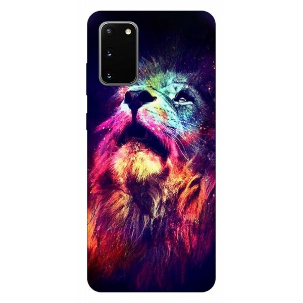 Husa Silicon Soft Upzz Print Compatibila Cu Samsung Galaxy S20 Model Neon Lion imagine itelmobile.ro 2021