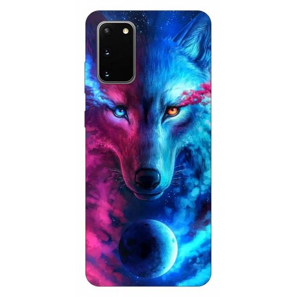 Husa Silicon Soft Upzz Print Compatibila Cu Samsung Galaxy S20 Model Wolf imagine itelmobile.ro 2021