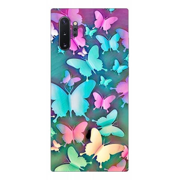 Husa Silicon Soft Upzz Print Compatibila Cu Samsung Galaxy Note 10+ Plus Model Colorfull Butterflies imagine itelmobile.ro 2021
