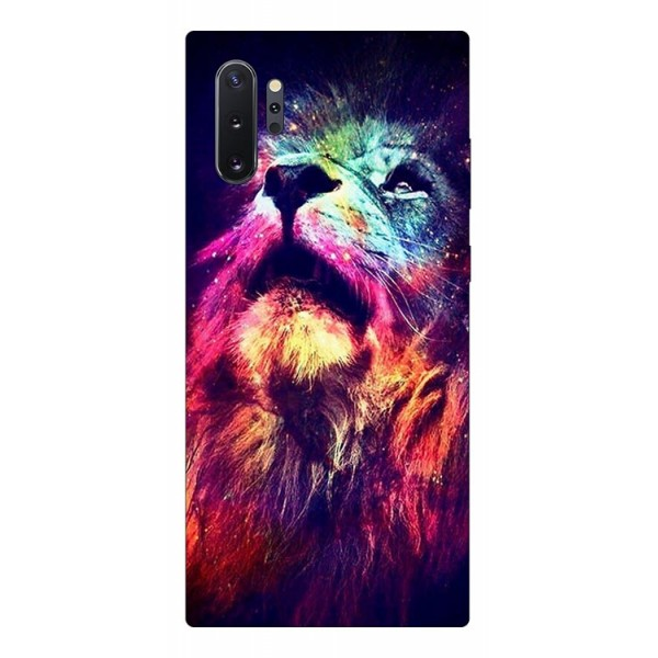 Husa Silicon Soft Upzz Print Compatibila Cu Samsung Galaxy Note 10+ Plus Model Neon Lion imagine itelmobile.ro 2021