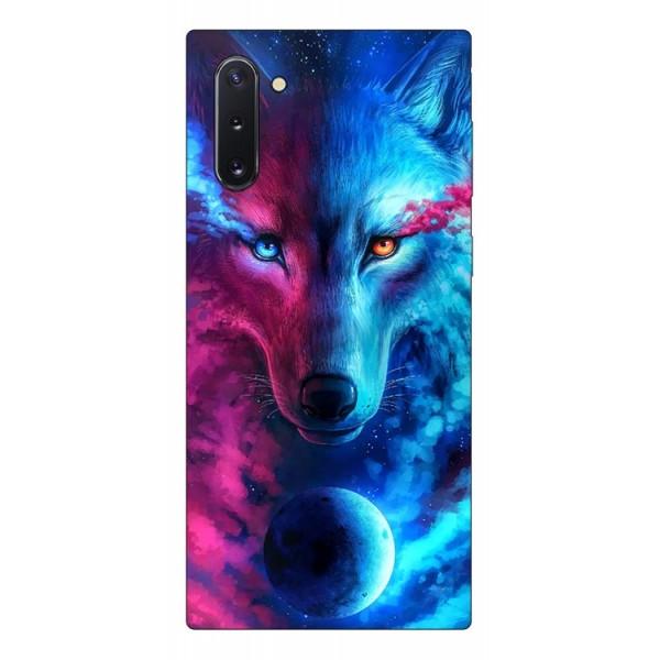 Husa Silicon Soft Upzz Print Compatibila Cu Samsung Galaxy Note 10 Model Wolf imagine itelmobile.ro 2021