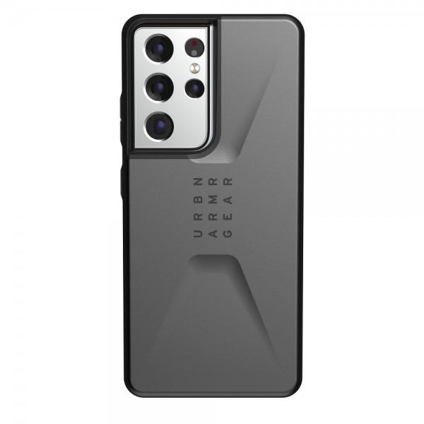 Husa Premium Urban Armor Gear Civilian Pentru Samsung Galaxy S21 Ultra, Silver imagine itelmobile.ro 2021