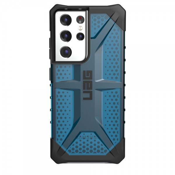 Husa Premium Urban Armor Gear Plasma Pentru Samsung Galaxy S21 Ultra, Albastru Transparent imagine itelmobile.ro 2021