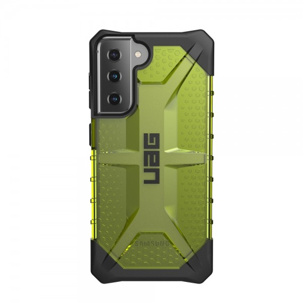 Husa Premium Urban Armor Gear Plasma Pentru Samsung Galaxy S21, Verde Transparent imagine itelmobile.ro 2021