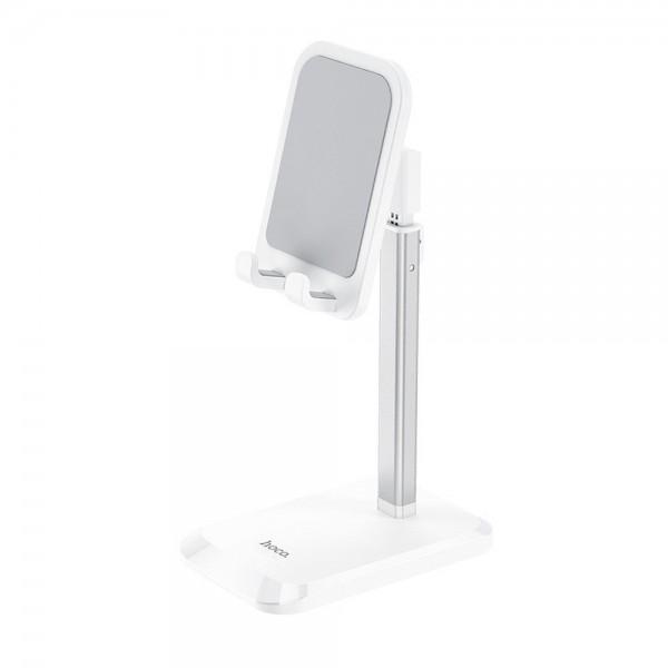 Suport Universal Premium Hoco Compatibil Cu Tablete Si Telefoane 4,7inch - 10inch, Stable Ph27, Alb imagine itelmobile.ro 2021