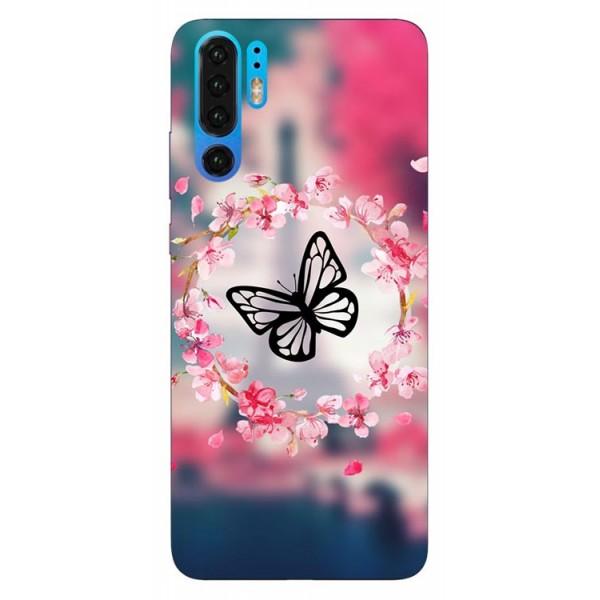 Husa Silicon Soft Upzz Print Compatibila Cu Huawei P30 Pro Model Butterfly imagine itelmobile.ro 2021