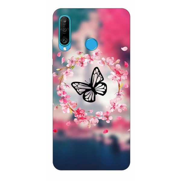 Husa Silicon Soft Upzz Print Compatibila Cu Huawei P30 Lite Model Butterfly imagine itelmobile.ro 2021