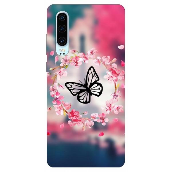 Husa Silicon Soft Upzz Print Compatibila Cu Huawei P30 Model Butterfly imagine itelmobile.ro 2021