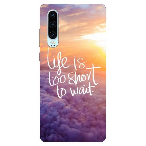 Husa Silicon Soft Upzz Print Compatibila Cu Huawei P30 Model Life imagine itelmobile.ro 2021