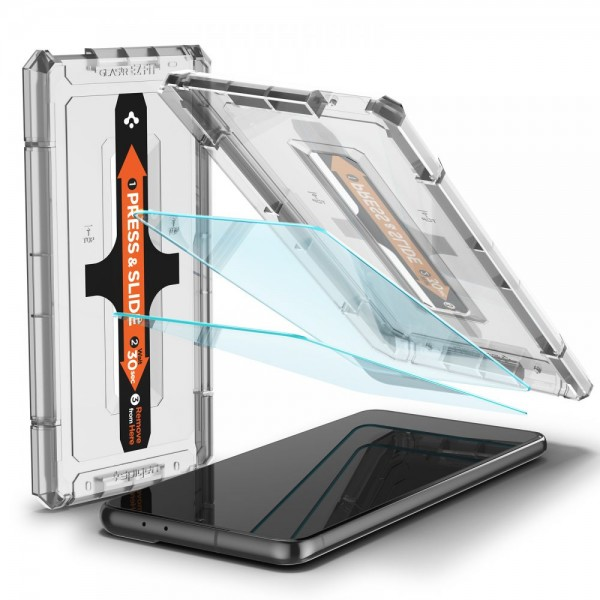 Folie Premium Sticla Securizata Spigen Glass Tr Ez Fit Compatibila Cu Samsung S21+ Plus, 2 Bucati In Pachet imagine itelmobile.ro 2021