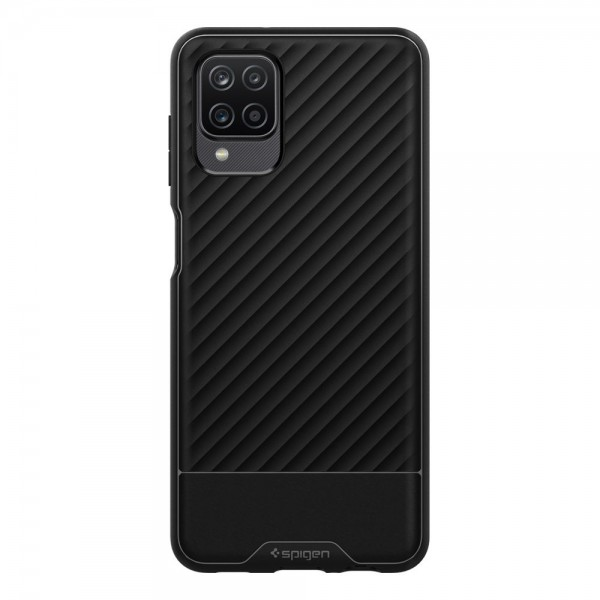 Husa Premium Spigen Core Armor Pentru Samsung Galaxy A12, Silicon, Negru imagine itelmobile.ro 2021