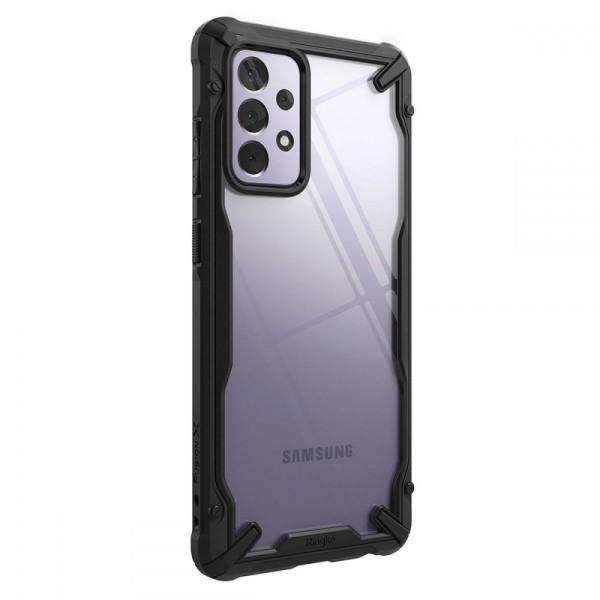 Husa Premium Ringke Fusion X Pentru Samsung Galaxy A72 4G, Transparenta Cu Rama Neagra imagine itelmobile.ro 2021