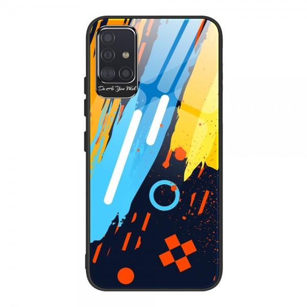 Husa Premium Upzz Glass Color Compatibila Cu Samsung Galaxy A51, Protectie La Camera , Model 1 imagine itelmobile.ro 2021