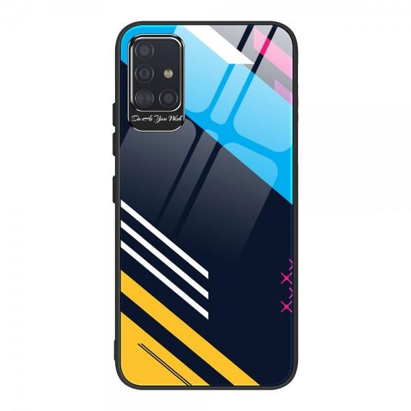 Husa Premium Upzz Glass Color Compatibila Cu Samsung Galaxy A51, Protectie La Camera , Model 2 imagine itelmobile.ro 2021