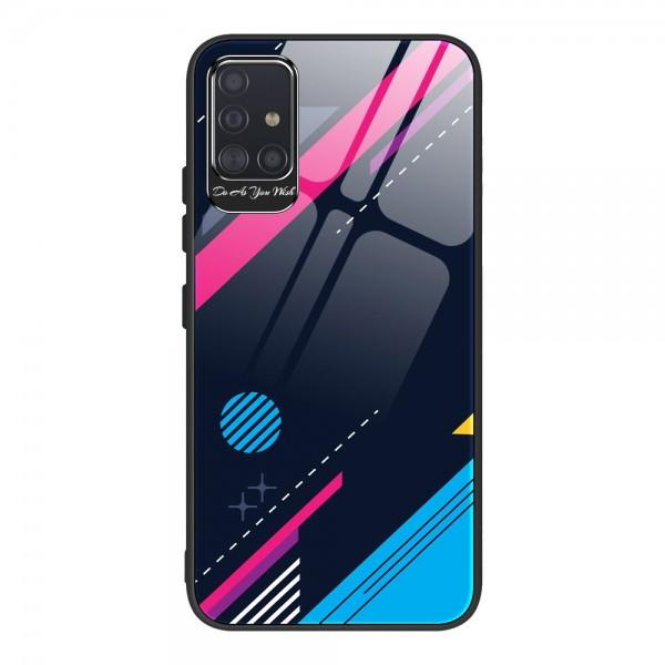 Husa Premium Upzz Glass Color Compatibila Cu Samsung Galaxy A51, Protectie La Camera , Model 4 imagine itelmobile.ro 2021