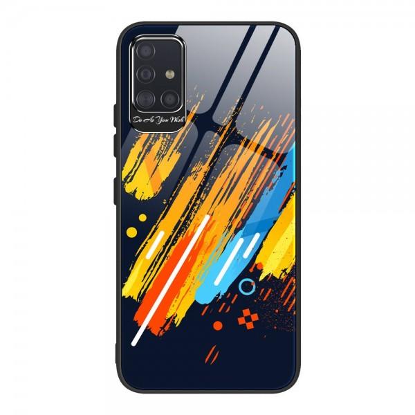 Husa Premium Upzz Glass Color Compatibila Cu Samsung Galaxy A51, Protectie La Camera , Model 5 imagine itelmobile.ro 2021