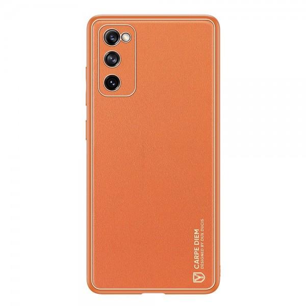 Husa Premium Duxducis Yolo Pentru Samsung Galaxy S20 Fe, Orange imagine itelmobile.ro 2021