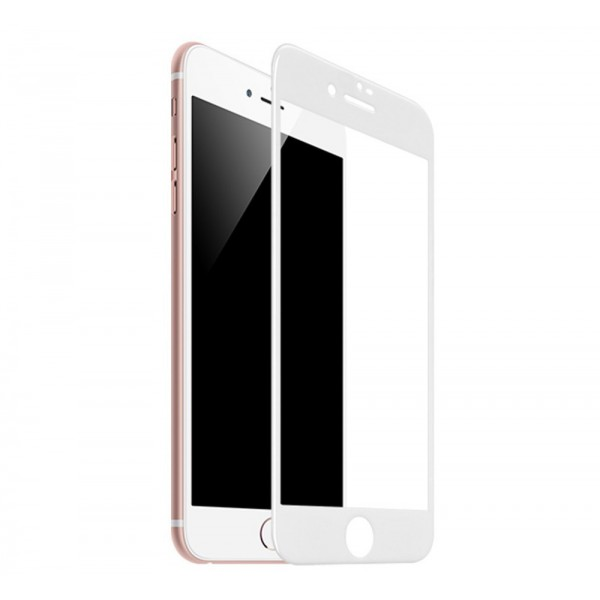 Folie Sticla Securizata Premium Full Cover Hoco Compatibila Cu iPhone 7 / 8, Transparenta Cu Margine Alba imagine itelmobile.ro 2021