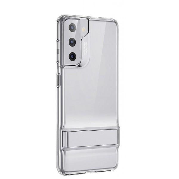 Husa Premium Esr Air Shield Boost Compatibila Cu Samsung S21, Silicon, Stand Metalic, Transparenta imagine itelmobile.ro 2021
