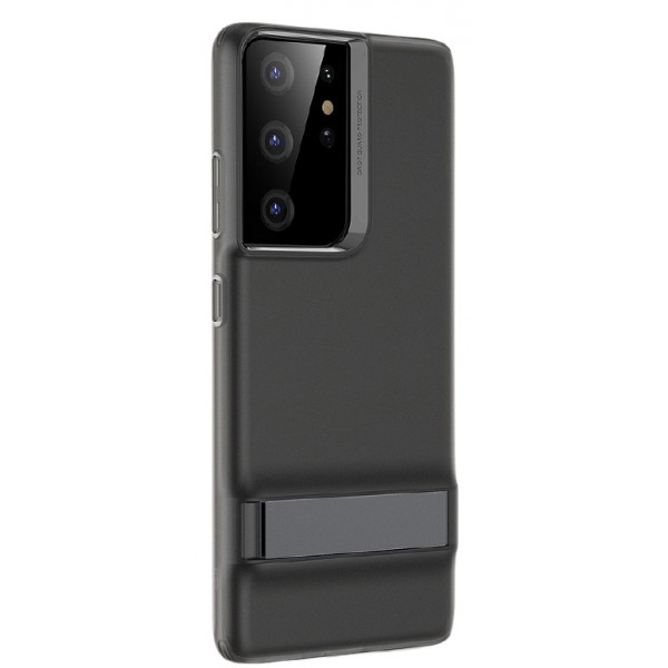 Husa Premium Esr Air Shield Boost Compatibila Cu Samsung S21 Ultra, Silicon, Stand Metalic, Negru imagine itelmobile.ro 2021