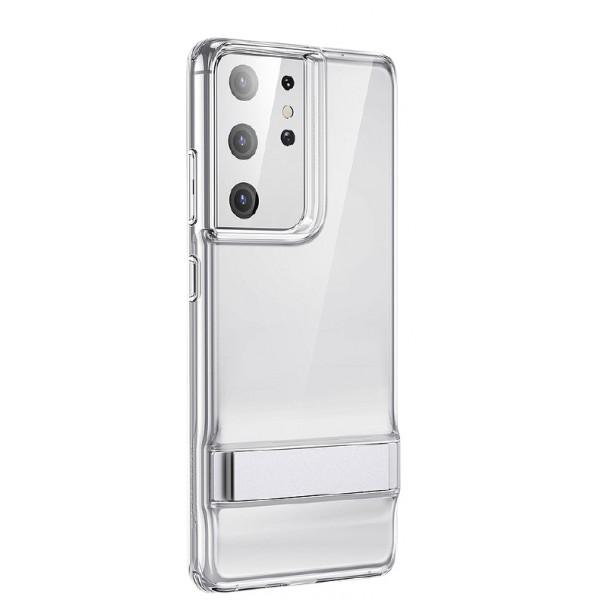 Husa Premium Esr Air Shield Boost Compatibila Cu Samsung S21 Ultra, Silicon, Stand Metalic, Transparenta imagine itelmobile.ro 2021